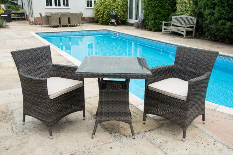 Zoo Interiors Mixed Brown Rattan Outdoor Garden Furniture Set