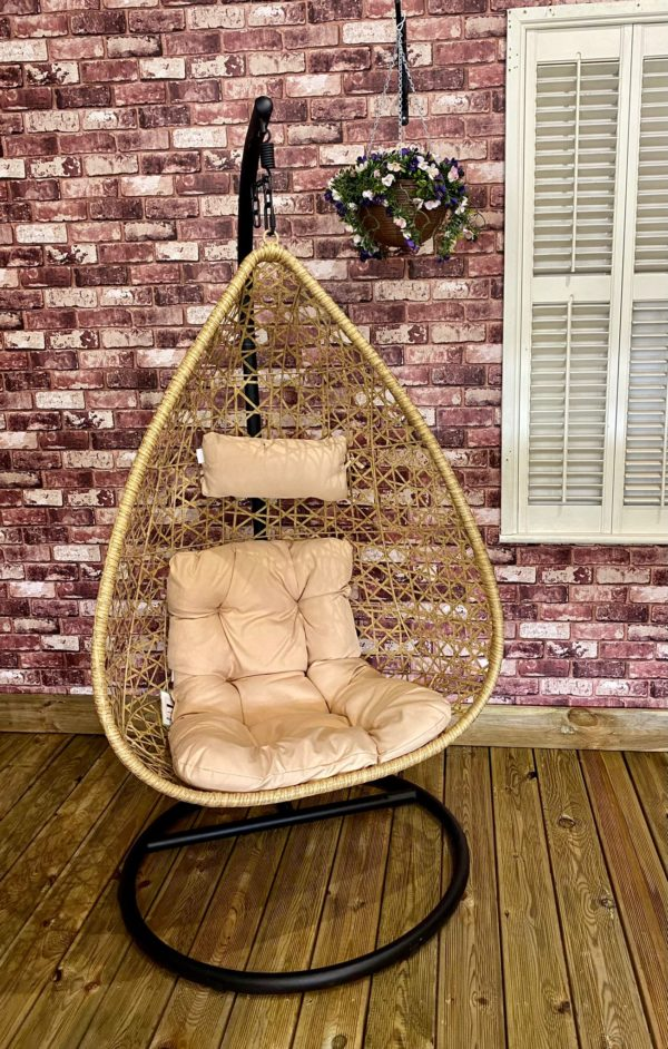 Beige egg chair